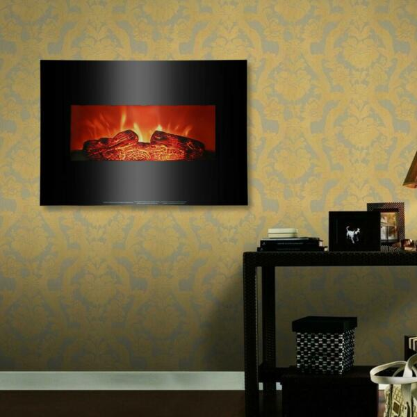 1400W Wall Mount 26quot; Electric Safe Fireplace Heat Heater $85.49