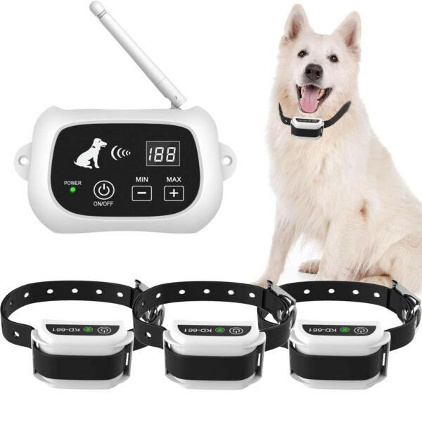 Wireless Dog Fence Pet Containment System Waterproof Training Collars 1 2 3 Dogs $56.99