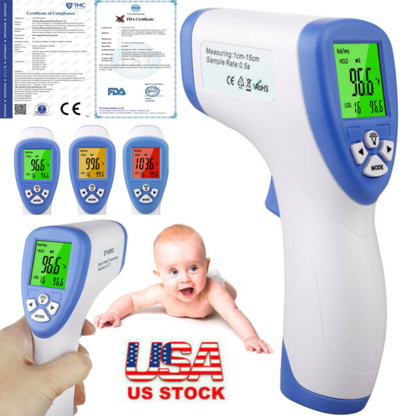 USA IR Infrared Digital Forehead Fever Thermometer Non Contact Baby amp; Adult Body $11.69