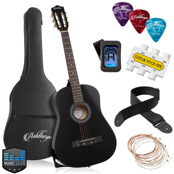 38 inch Beginner Acoustic Guitar Package Kids Starter Bundle Kit amp; Accessories