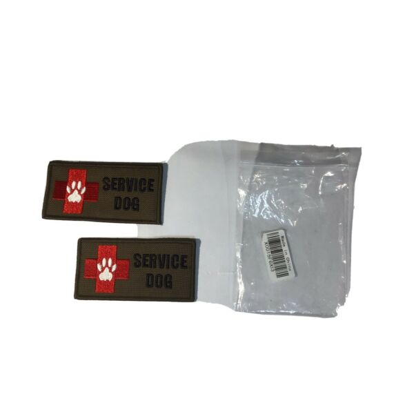 SERVICE DOG STICK ON PATCHES NEW 4quot; x 2quot; Lot of 2 $3.99