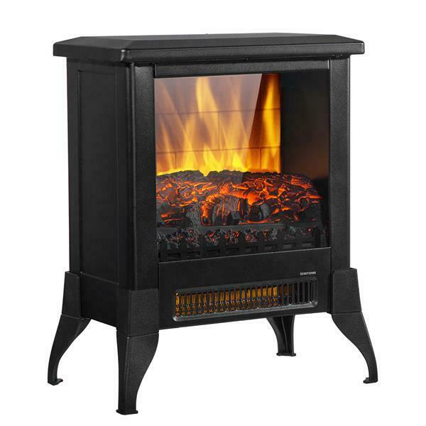 14 inch 1400w Fireplace Fake Wood Heating Wire Stoves Home Freestanding Black $80.99