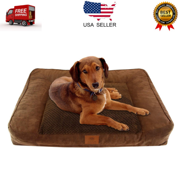 Orthopedic Dog Bed Extra Large Portable Ultra Plush Memory Foam Durable Bed XL $44.52