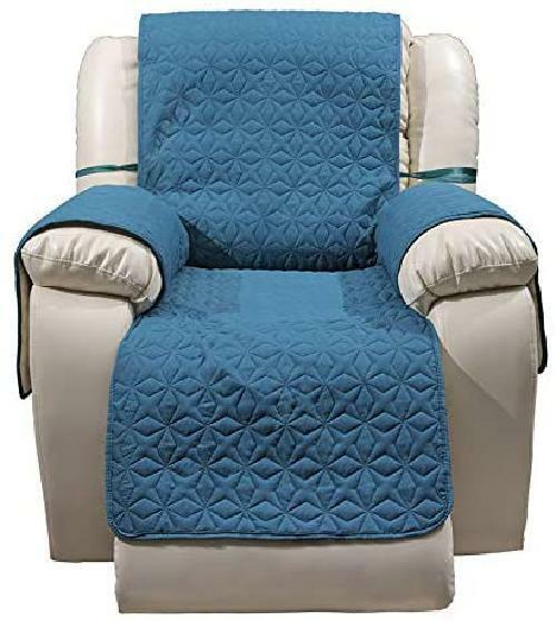Waterproof Quilted Recliner Cover Antislip Large Recliner Slipcover with Pockets $30.99