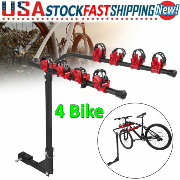 Car SUV Rear Mounted 4 Bike Trunk Mounted Rack Hatchback Bicycle Cycle Carrier $53.19