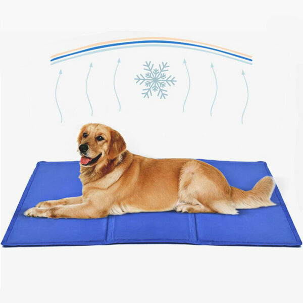 Gel Cooling Mat for Dogs and Cats Self Cooling Dog Bed Summer Sleeping Gel Pad $26.99