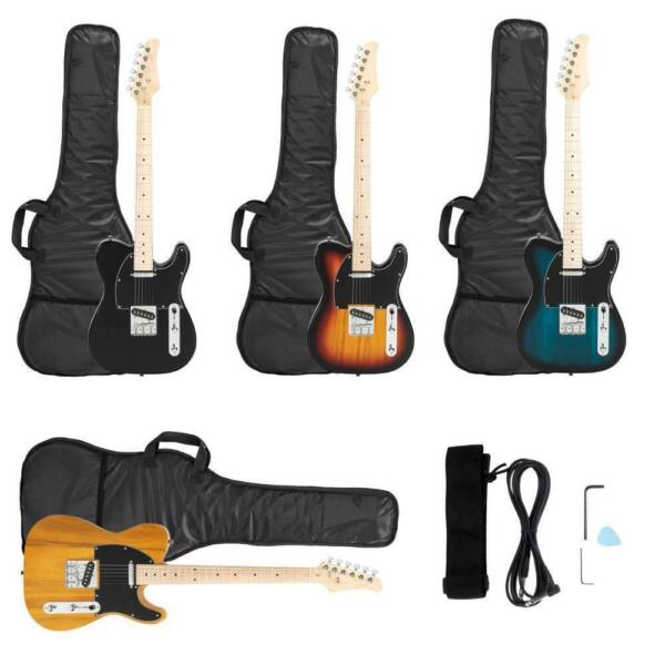 New 4 Colors Professional GTL Maple Fingerboard Electric Guitar w Bag Strap $69.99