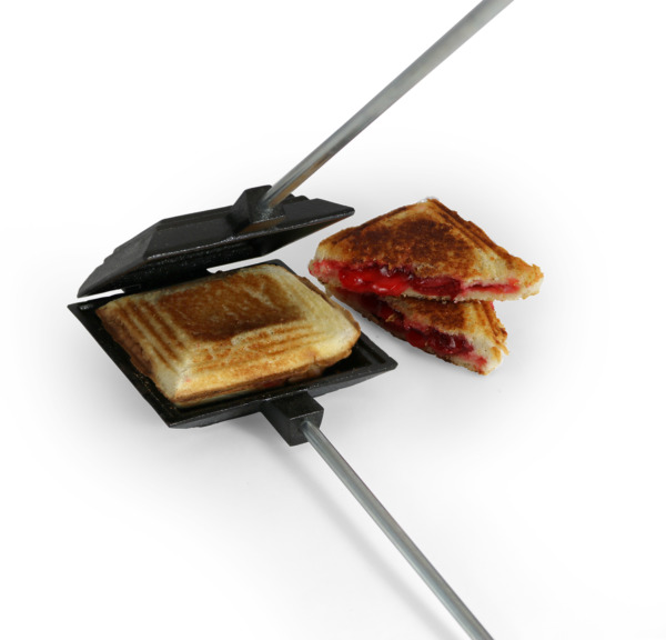 27quot; Cast Iron Camp Fire Cooker Pudgie Pie Grill Toast Sandwich Maker Dessert NEW