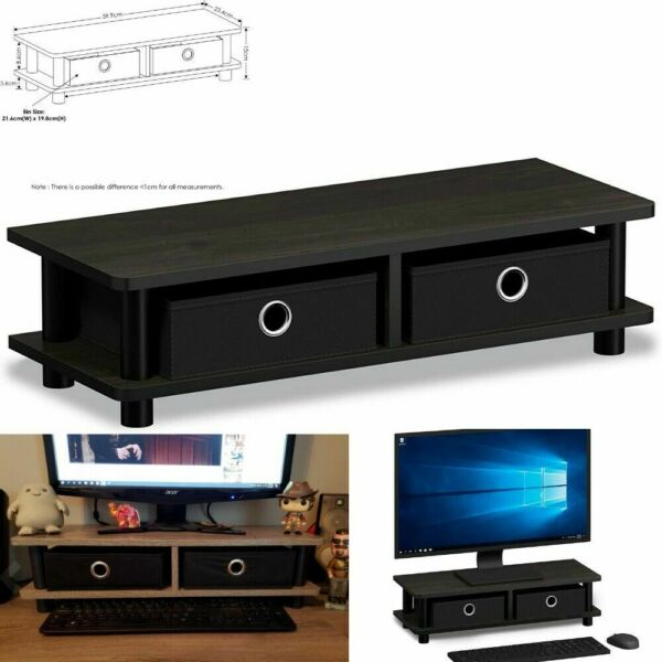 Modern Coffee TV Stand Table Riser Shelf Wood End Monitor Furniture for 32 inch $28.97