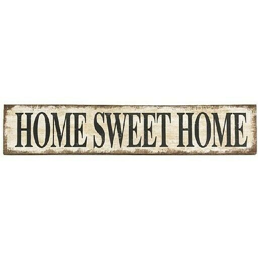 Farmhouse Distressed Burlap Home Sweet Home Sign Wall Decor