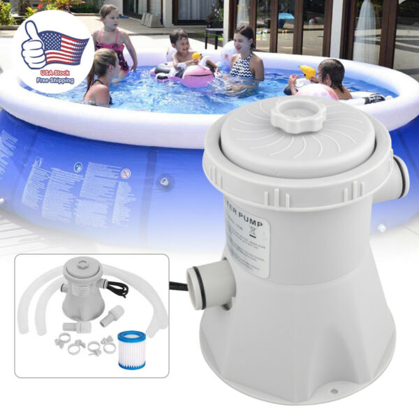 330gal Swimming Pool Filter Pump System For Above Ground Pool Cleaning Tool US $69.99