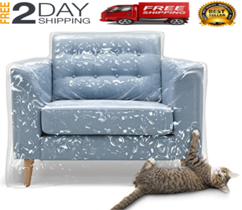 Plastic Furniture Covers Cat Scratch Dog Protector Recliner Chair Waterproof NEW $39.99