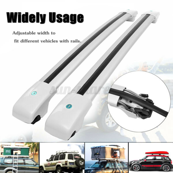 48quot; Car Universal Top Roof Rack Cross Bar Luggage Cargo Carrier Rails $69.99