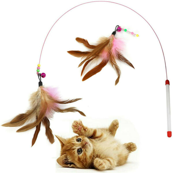 Pet Accessories Playing Teaser Mouse Teasing Cat Funny Wand Feather pet toys $6.08
