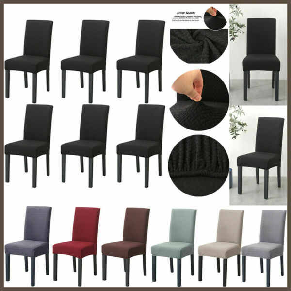 6PACK High Back Dining Chair Cover Removable Slipcover Room Wedding Party Decor $32.99