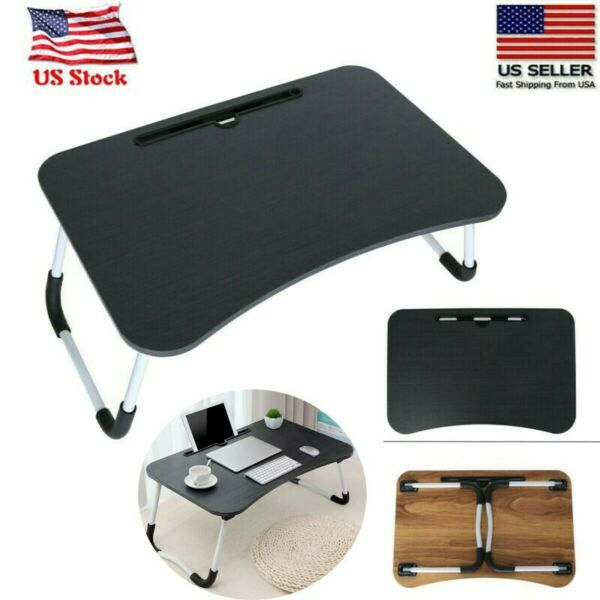 Foldable Portable Multifunction Large Bed Tray Laptop Desk Lazy Laptop Table USA $22.79