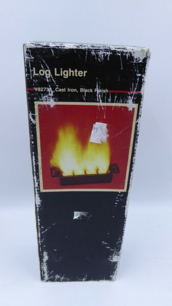 Colter And Company Fireplace Cast Iron Log Lighter #82733 Black Finish Open Box