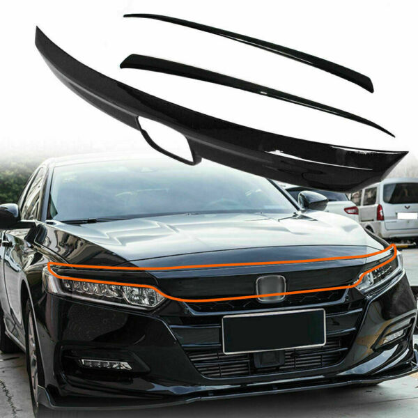 ABS Glossy Black Lip Front Grille Cover Moulding Trim For Honda Accord 2018 20 $44.50
