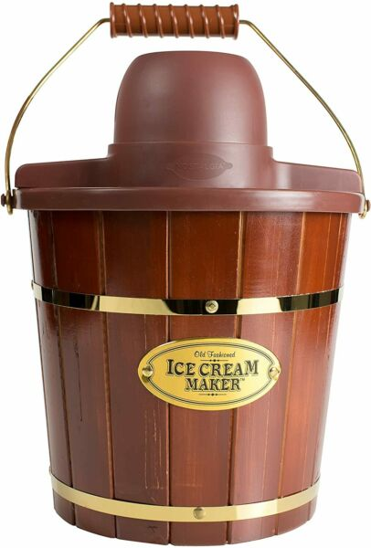 Electric Bucket Ice Cream Maker With Easy Carry Handle 4 Qt in Min Frozen Yogurt $47.96