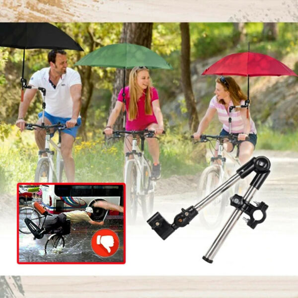 Foldable Hands Free Umbrella Mount Holder Bicycle Wheelchair Umbrella Stand US $16.47