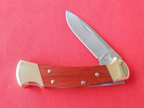 BUCK USA 112 1 BLADE DROP POINT LOCK BACK ROSEWOOD HANDLES KNIFE