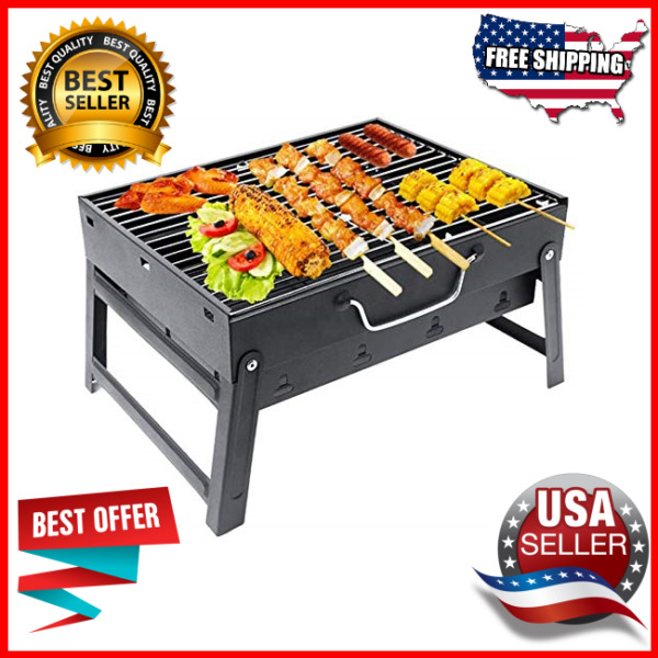 Barbecue Charcoal Grill Stainless Steel Folding Portable BBQ Tool Kits Outdoor