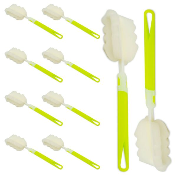 Bottle Sponge Brush with Long Handle Soft for Cleaning Bottles Cups 10 Pack $12.99