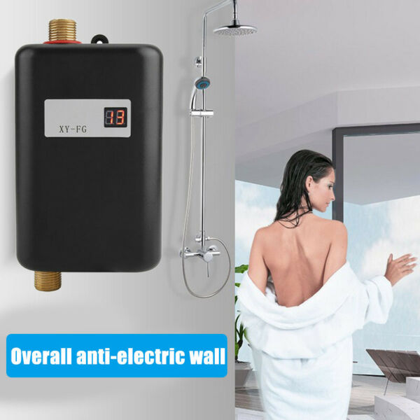 110V Mini Instant Electric Tankless Hot Water Heater Shower Kitchen Faucet US $50.99