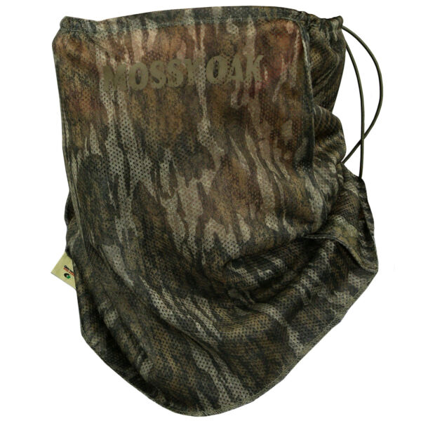 Mossy Oak Camo Tech Half Mask Adjustable Mesh Camo Hunting Mask