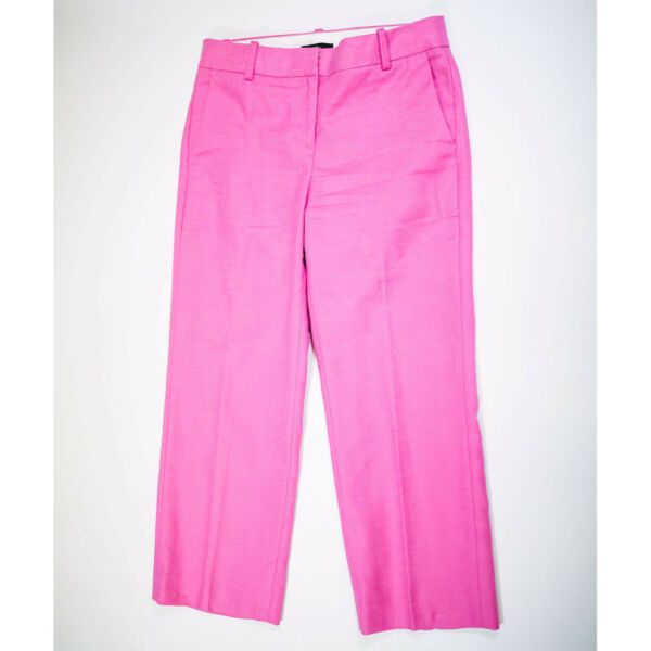 NEW J. Crew Petite Peyton Ankle Cropped Linen Stretch Skinny Pants Solid Pink 4P $39.00