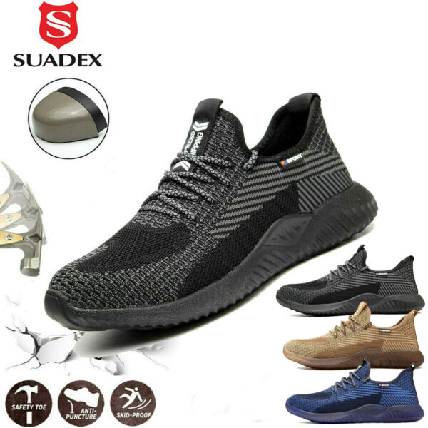 Mens Work Safety Shoes Steel Toe Cap Lightweight Boots Indestructible Sneakers $39.99
