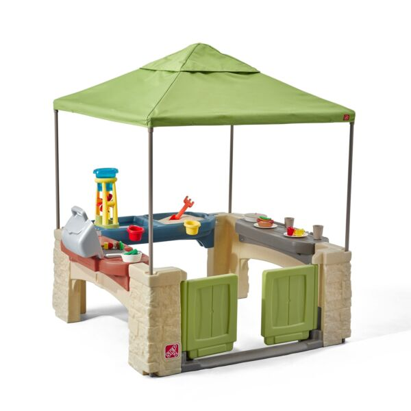 Step2 All Around Playtime Patio with Canopy Kids Playhouse $210.57