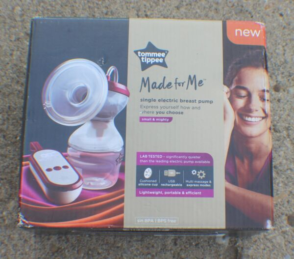 Tommee Tippee Made for Me Single Electric Breast Pump 522241 NEW SEALED