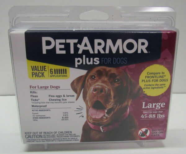 PetArmor Plus Dog Flea and Tick Large Dog 45 88 lbs Squeeze on Treatment $22.00