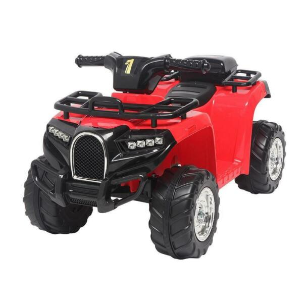 6V Electric Kids Ride On ATV Quad 4 Wheels Toys Car Led Lights Battery Power RED $78.59