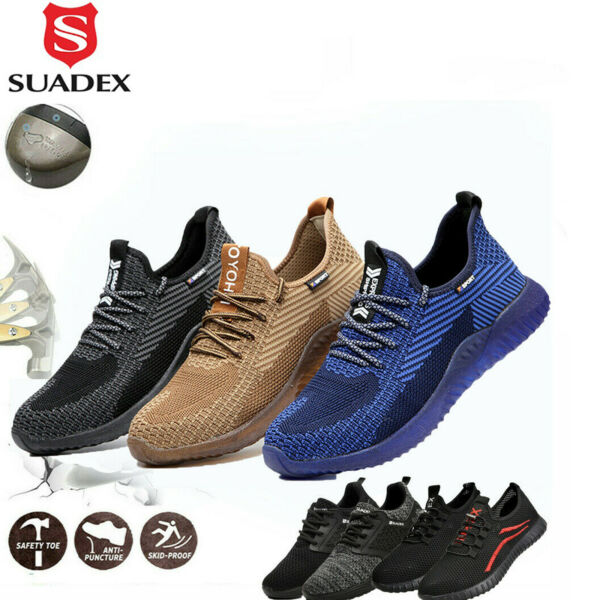 Men#x27;s Work Safety Shoes Steel Toe Bulletproof Boots Indestructible Sneakers Size $39.99