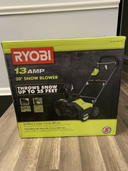 Snow Blower RYOBI 20 in. 13 Amp Corded Electric