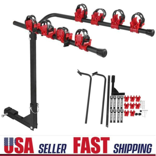 4 Bike Bicycle Rack 1 1 4quot;2quot; Hitch Mount Carrier for Car AUTO Truck SUV Black $68.49