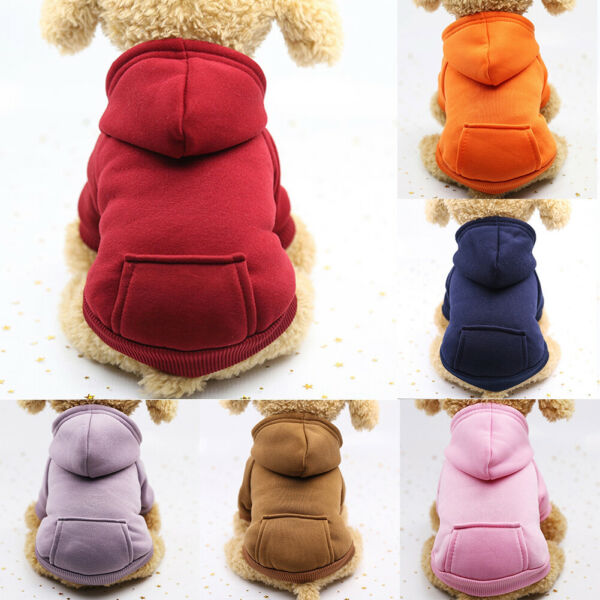 Pet Dog Sweater Soft Dogs Clothes Sports Hoodie Jumper Coat Puppy Cat Apparel $6.49