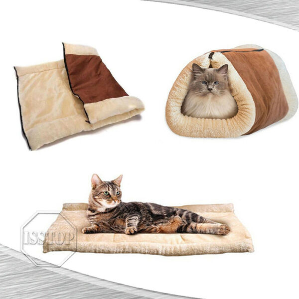 Dog Cat Pet House Sleeping Bed Kennel Puppy Cave Warm Nest Super Soft Mat Pad $11.95