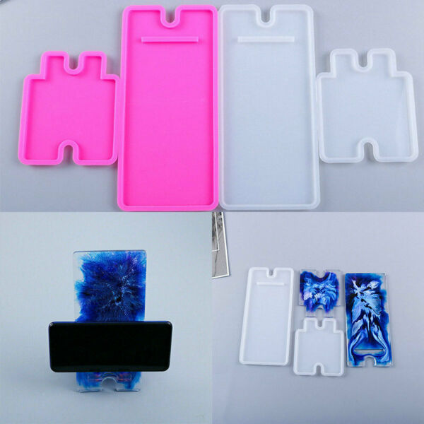 Mould Phone Holder Silicone Craft Tool DIY Stand Casting Mold Mobile Resin Epoxy $7.89