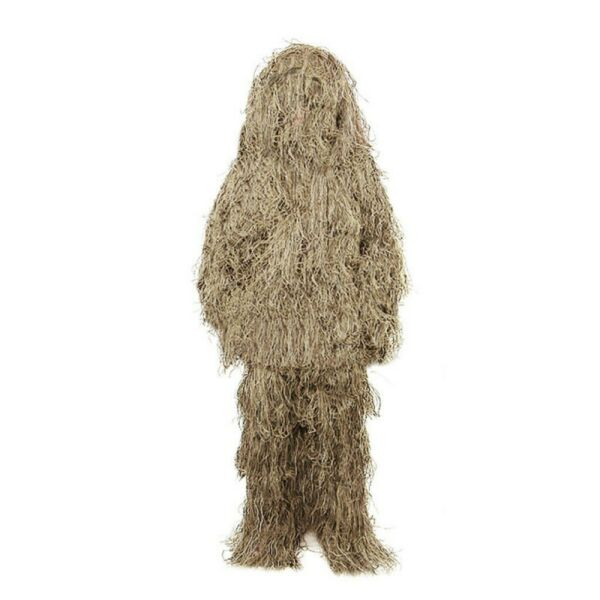 Ghillie Camo Suit Woodland Desert for Hunting Airsoft Halloween For Kids adult