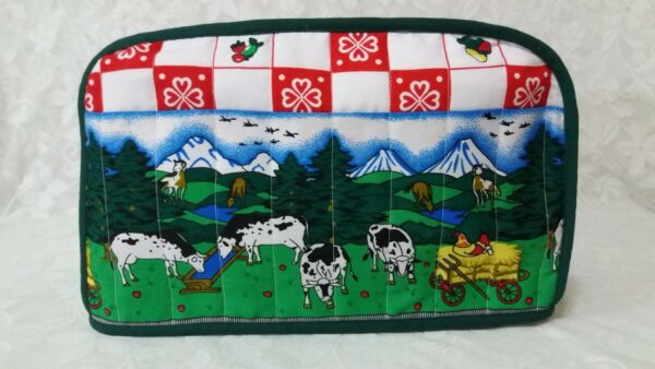 Farmhouse 4 Slice Toaster Cover Country Farmhouse Toaster Cover 4 Slice