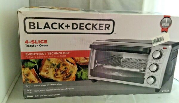 Black and Decker Toaster Oven TO1356SG 4 slice Open Box $29.99