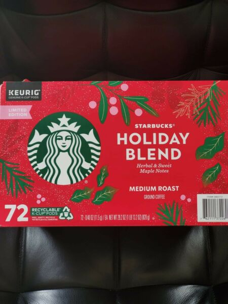 Starbucks Holiday Blend 72 Kcups Medium Roast Ground Coffee {scratched boxes}