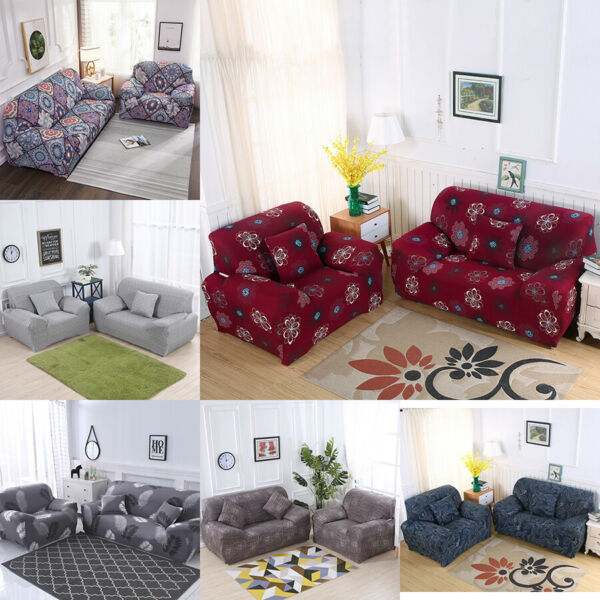 Stretch Sofa Slipcover Couch Cover Floral Print Loveseat Cover for 1 2 3 4Seater $18.59