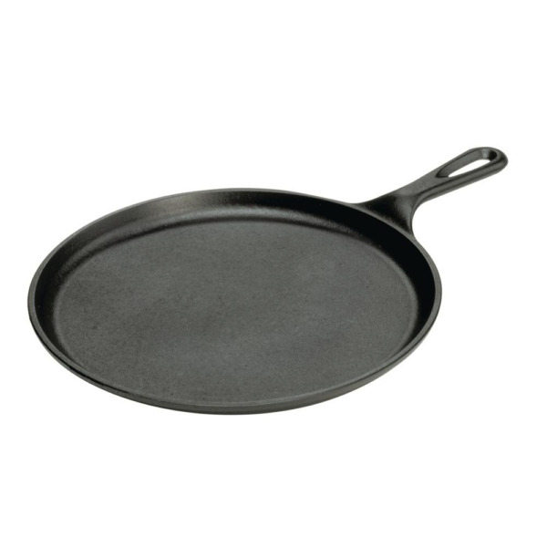 10.5 in. Cast Iron Griddle Pan Round Skillet Pre Seasoned Pancake Tortilla Pizza