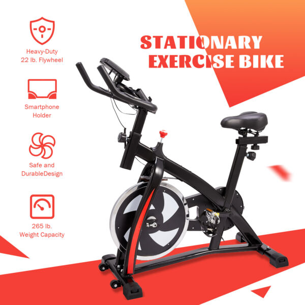 Exercise Bike Indoor Cycling Stationary Bike Home Gym Equipment Cardio $171.49