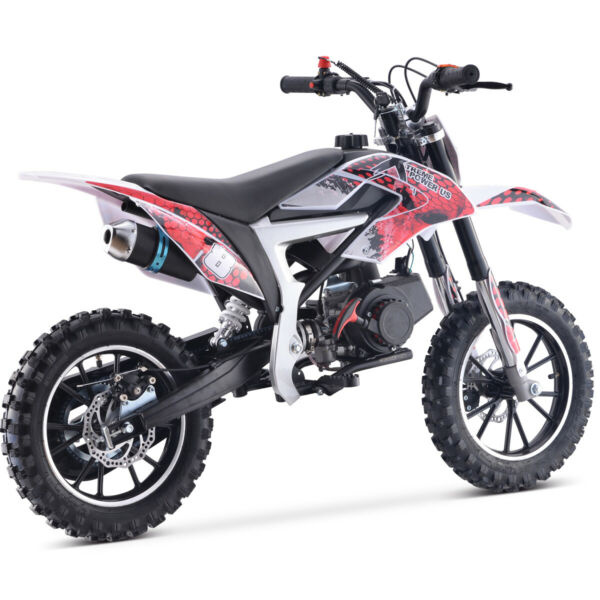 High Performance 2 Stroke 50cc Mini Dirt Bike Ride On for Kids Teens Red Black $359.95