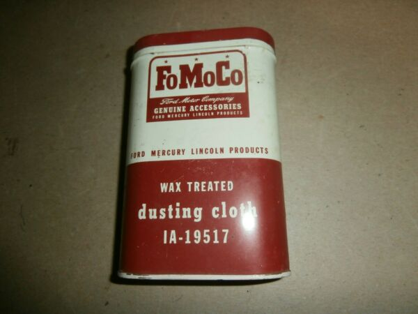 Vintage Ford FoMoCo Tin Can Dusting Cloth